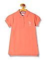 U.S. Polo Assn. Kids Girls Embellished Logo Short Sleeve T-Shirt