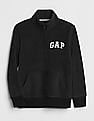 GAP Toddler Boy Black Logo Quarter Zip Sweatshirt