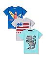 Cherokee Boys Short Sleeve Printed T-Shirt - Pack Of 3