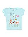 Donuts Girls Graphic Print Cotton T-Shirt