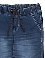 Cherokee Boys Drawstring Waist Stone Washed Jeans