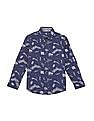 FM Boys Boys Printed Slim Fit Shirt