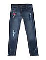 Cherokee Girls Slim Fit Embroidered Jeans