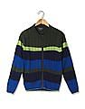 Cherokee Boys Cable Knit Zip Up Sweater