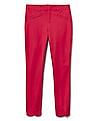 GAP Women Red Signature Skinny Ankle Pant With Eyelet Embroidery