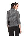 Cherokee Grey Open Front Patterned Knit Shrug