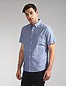 GAP Lived-In Stretch Poplin Short Sleeve Shirt