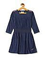 U.S. Polo Assn. Kids Girls Chambray Fit And Flare Dress